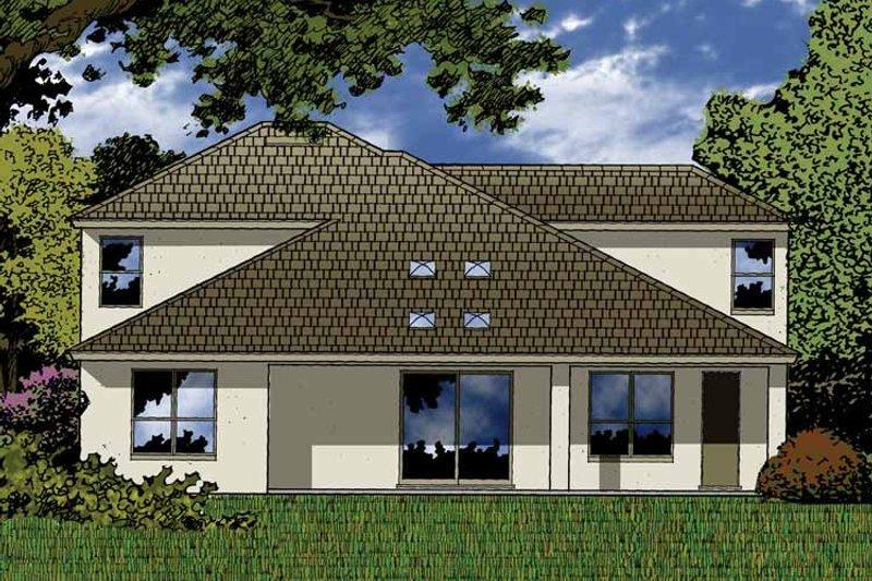 Contemporary Exterior - Rear Elevation Plan #1015-49 - Houseplans.com