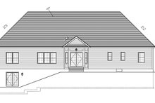 Ranch Exterior - Rear Elevation Plan #1010-87