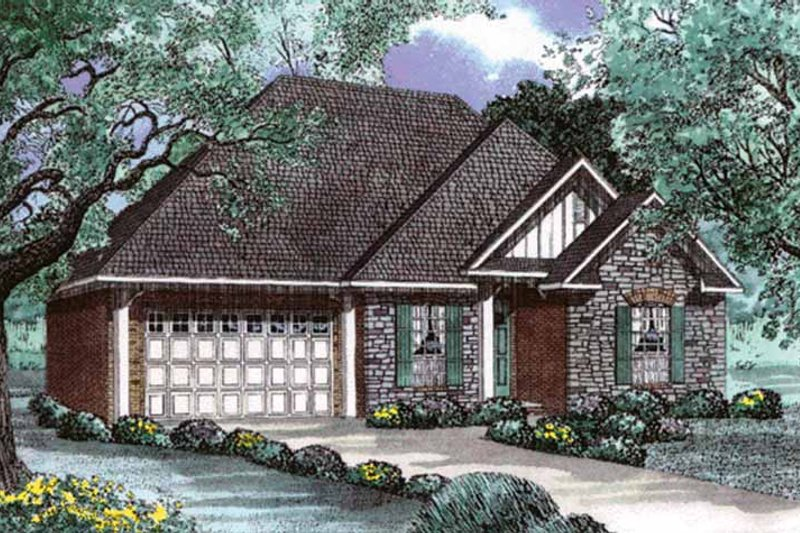 Country Exterior - Front Elevation Plan #17-2958