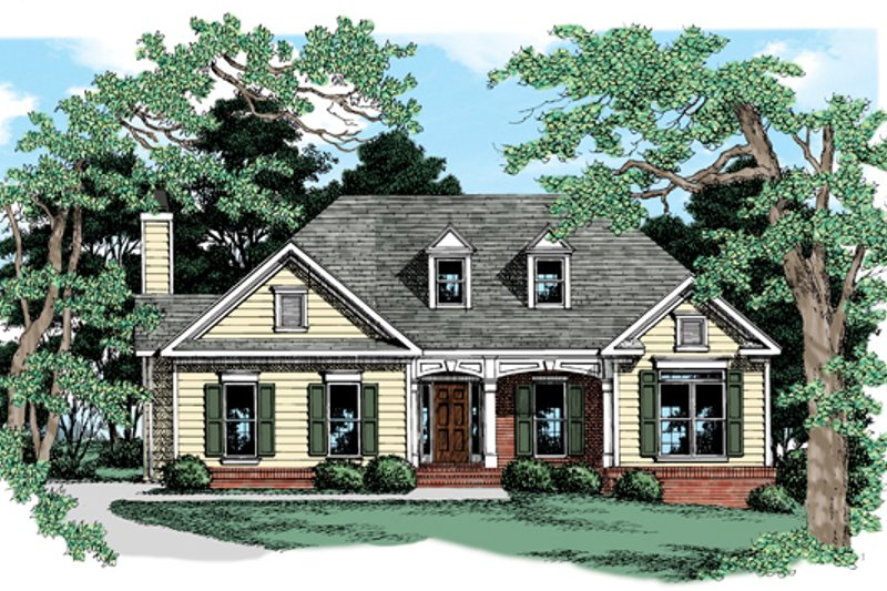 Architectural House Design - Country Exterior - Front Elevation Plan #927-658