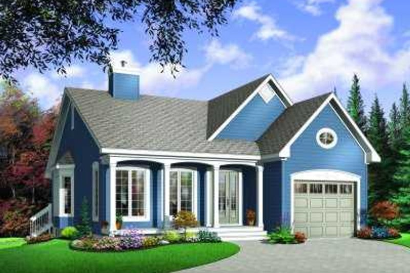 Country Exterior - Front Elevation Plan #23-350