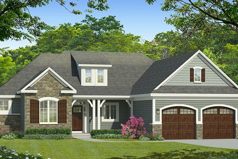 Ranch Exterior - Front Elevation Plan #1010-185 - Houseplans.com