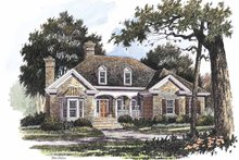 House Plan Design - Country Exterior - Front Elevation Plan #429-215