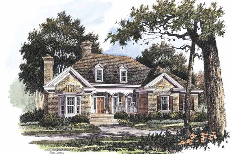 Country Exterior - Front Elevation Plan #429-215