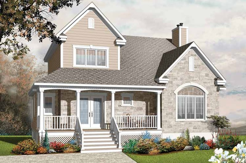 Country Exterior - Front Elevation Plan #23-2406