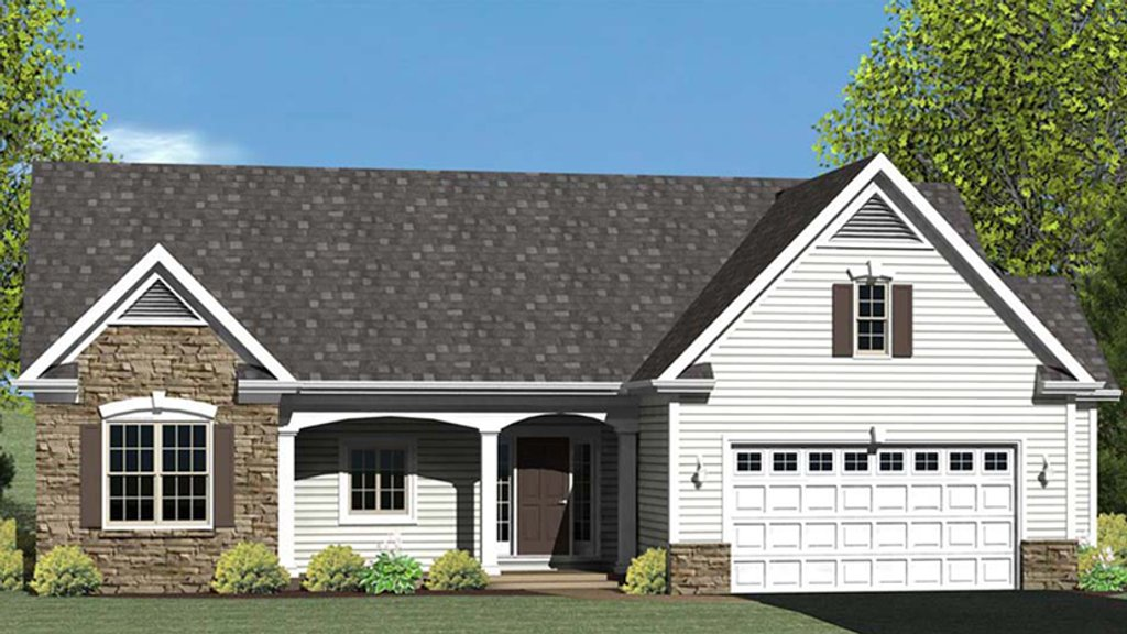 Ranch Style House Plan - 3 Beds 2 Baths 1608 Sq/Ft Plan #1010-70 on