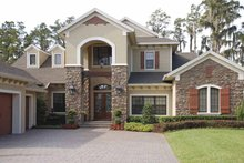 Country Exterior - Front Elevation Plan #1019-18