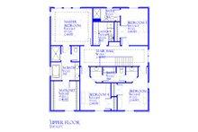 Traditional Floor Plan - Upper Floor Plan Plan #901-142