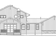 Prairie Style House Plan - 3 Beds 3 Baths 3219 Sq/Ft Plan #1042-18 Exterior - Rear Elevation