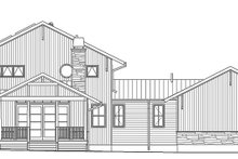 Prairie Exterior - Rear Elevation Plan #1042-18