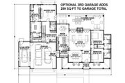 Country Style House Plan - 3 Beds 3 Baths 2593 Sq/Ft Plan #1069-3 Floor Plan - Main Floor Plan