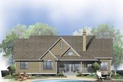 Ranch Style House Plan - 4 Beds 3 Baths 2689 Sq/Ft Plan #929-798 Exterior - Rear Elevation