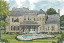 Home Plan - European Exterior - Rear Elevation Plan #453-587