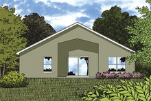 House Plan Design - Mediterranean Exterior - Rear Elevation Plan #417-837