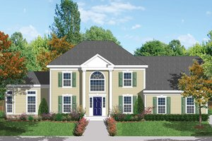 Classical Exterior - Front Elevation Plan #1053-62