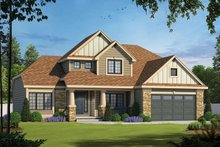 Dream House Plan - Traditional Exterior - Front Elevation Plan #20-2134