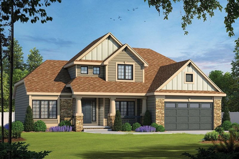 Traditional Exterior - Front Elevation Plan #20-2134
