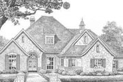 European Style House Plan - 4 Beds 3.5 Baths 2998 Sq/Ft Plan #310-390 Exterior - Front Elevation