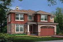 Architectural House Design - Prairie Exterior - Front Elevation Plan #132-432