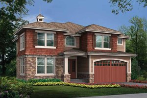 Home Plan - Prairie Exterior - Front Elevation Plan #132-432