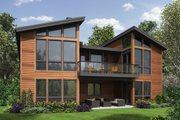 Modern Style House Plan - 4 Beds 4 Baths 3242 Sq/Ft Plan #48-606 Exterior - Rear Elevation