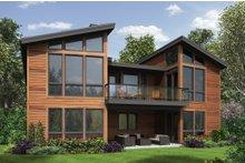 Home Plan - Modern Exterior - Rear Elevation Plan #48-606
