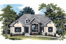 Country Exterior - Front Elevation Plan #927-224