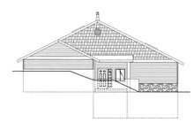 Ranch Exterior - Front Elevation Plan #117-833