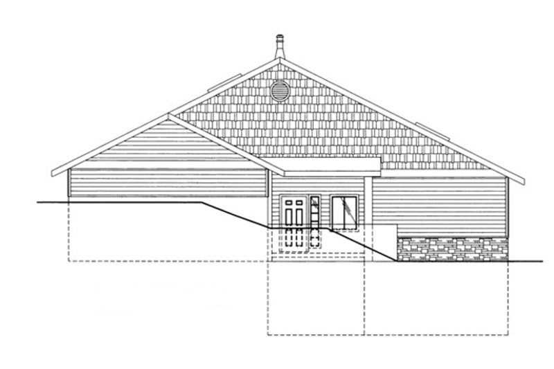 Ranch Exterior - Front Elevation Plan #117-833 - Houseplans.com