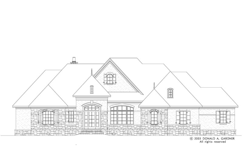 European Exterior - Front Elevation Plan #929-942 - Houseplans.com