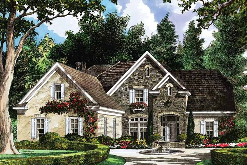 Country Exterior - Front Elevation Plan #952-181 - Houseplans.com