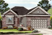 Traditional Style House Plan - 2 Beds 2 Baths 1260 Sq/Ft Plan #455-202 Exterior - Front Elevation