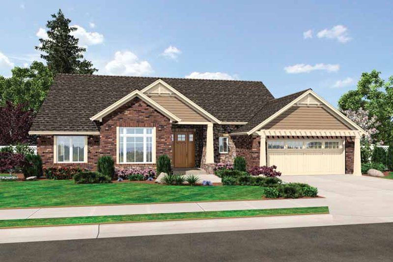 Architectural House Design - Craftsman Exterior - Front Elevation Plan #46-809