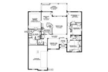 Mediterranean Floor Plan - Main Floor Plan Plan #17-3368