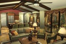 Mediterranean Interior - Family Room Plan #930-434
