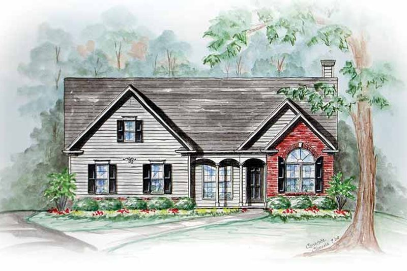 Ranch Exterior - Front Elevation Plan #54-241