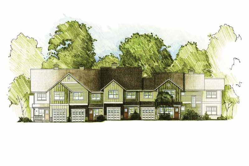 Craftsman Exterior - Front Elevation Plan #1042-11 - Houseplans.com