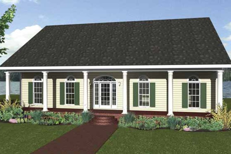 Country Exterior - Front Elevation Plan #44-209 - Houseplans.com