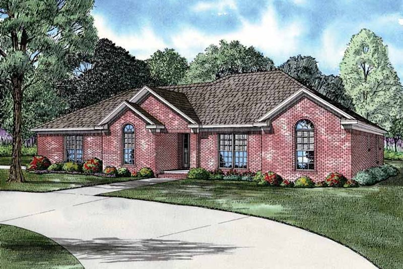Ranch Exterior - Front Elevation Plan #17-2750 - Houseplans.com