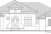 Mediterranean Style House Plan - 3 Beds 3.5 Baths 3543 Sq/Ft Plan #930-446