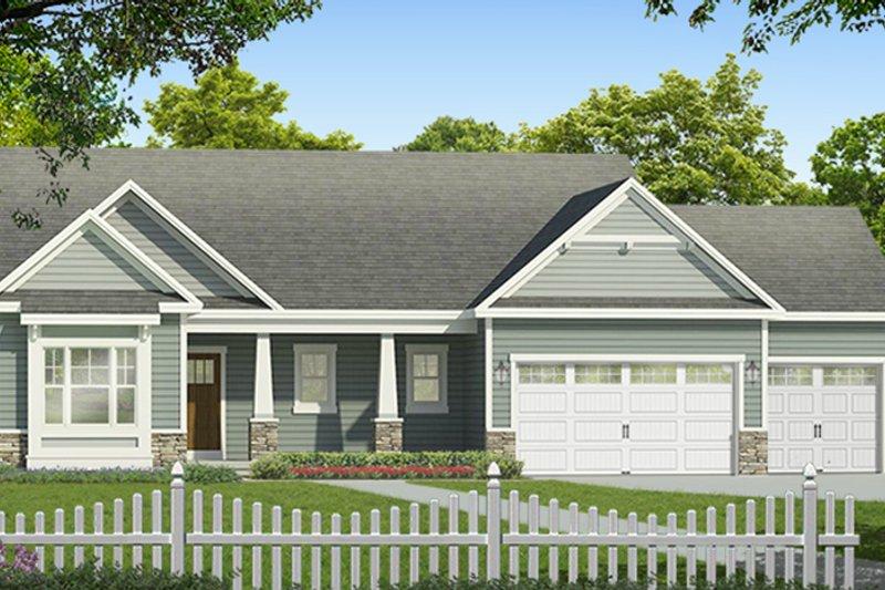 Ranch Exterior - Front Elevation Plan #1010-183 - Houseplans.com