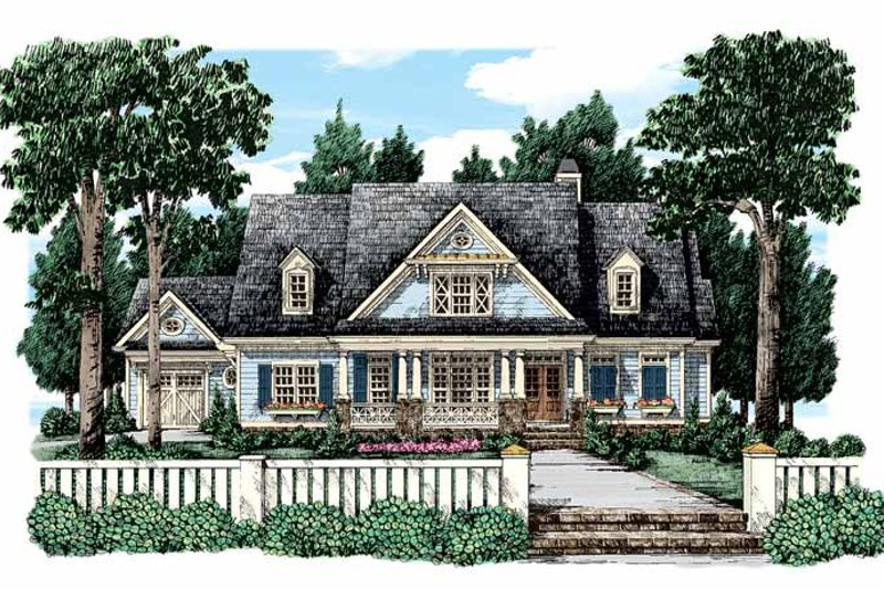 Country Exterior - Front Elevation Plan #927-321
