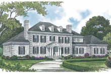 Architectural House Design - Colonial Exterior - Front Elevation Plan #453-591