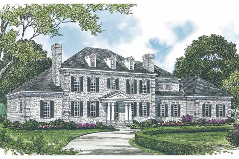 Colonial Exterior - Front Elevation Plan #453-591 - Houseplans.com