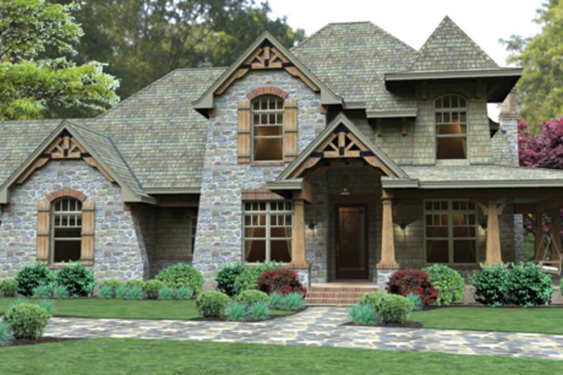 Craftsman Exterior - Front Elevation Plan #120-247 - Houseplans.com