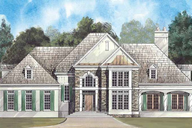 Colonial Exterior - Front Elevation Plan #119-383