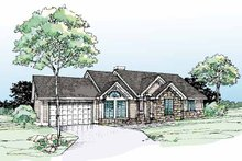 Ranch Exterior - Front Elevation Plan #320-689