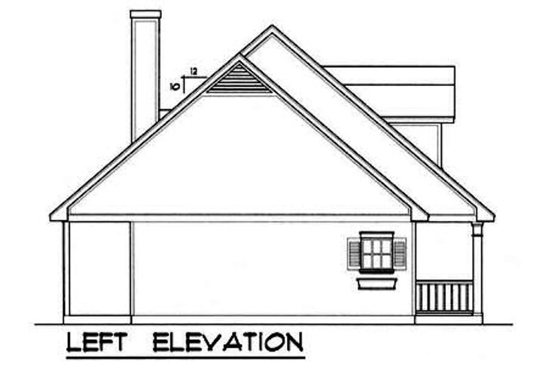 Country Exterior - Other Elevation Plan #40-180 - Houseplans.com