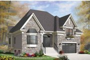 European Style House Plan - 3 Beds 2 Baths 1931 Sq/Ft Plan #23-2541 Exterior - Front Elevation