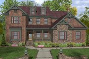 Craftsman Style House Plan - 4 Beds 4 Baths 2953 Sq/Ft Plan #56-560 Exterior - Front Elevation